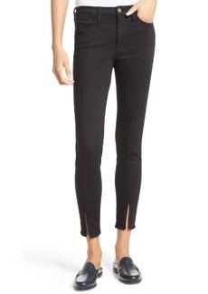 FRAME Le High Skinny Front Split High Waist Jeans (Wyman)