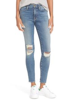 FRAME Le High Skinny High Waist Crop Jeans (Navy Yard)