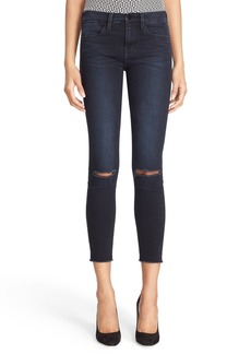 FRAME 'Le High Skinny' High Rise Crop Jeans (Sterling)
