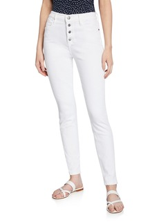 FRAME Le High Skinny Jeans with Button Fly