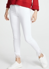FRAME Le High Skinny Jeans with Raw Shredded Hem