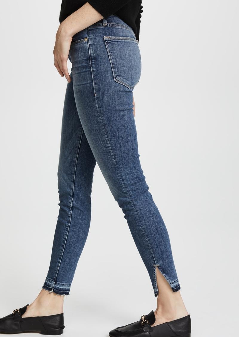 High Frame Jeans Le Skinny Cut HemDenim Triangle With Raw dCBQrExWoe