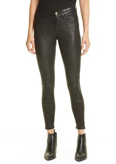 FRAME Le High Skinny Leather Ankle Pants