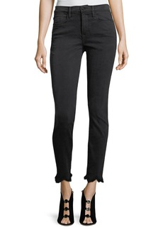 FRAME Le High Skinny-Leg Jeans w/ Jagged Hem