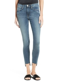 FRAME Le High Skinny Raw Stagger Jeans (Woodhaven)