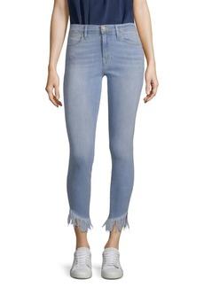 Le High Skinny Shredded Hem Jeans