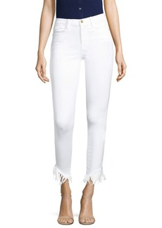 FRAME Le High Skinny Shredded Jeans