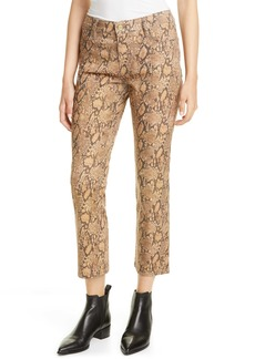 FRAME Le High Skinny Snake Embossed Coated Jeans