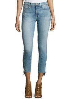 FRAME Le High Skinny Stagger-Zip Jeans