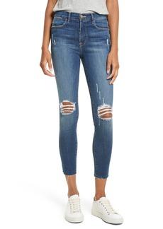 FRAME Le High Slit Ankle Skinny Jeans (Walgrove)