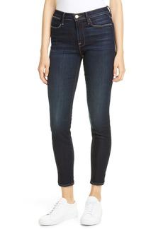 FRAME Le High Slit Hem Ankle Skinny Jeans (Copa)