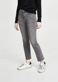 FRAME Le High Straight Foil Tux Jeans