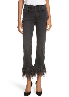 FRAME Le High Straight High Rise Feather Hem Jeans (Ludlow)