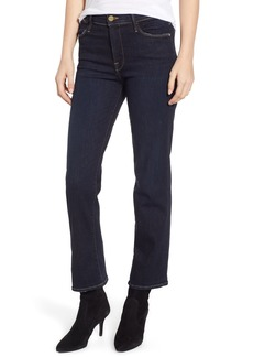 FRAME Le High Straight High Waist Crop Jeans (Pringle Point)