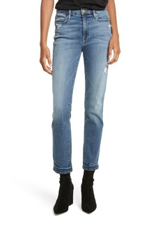 FRAME Le High Straight High Waist Crop Jeans (Whitwell)