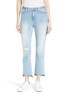 FRAME Le High Straight High Waist Step Hem Jeans (Jeffrey)