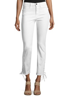 FRAME Le High Straight Lace-Up Jeans