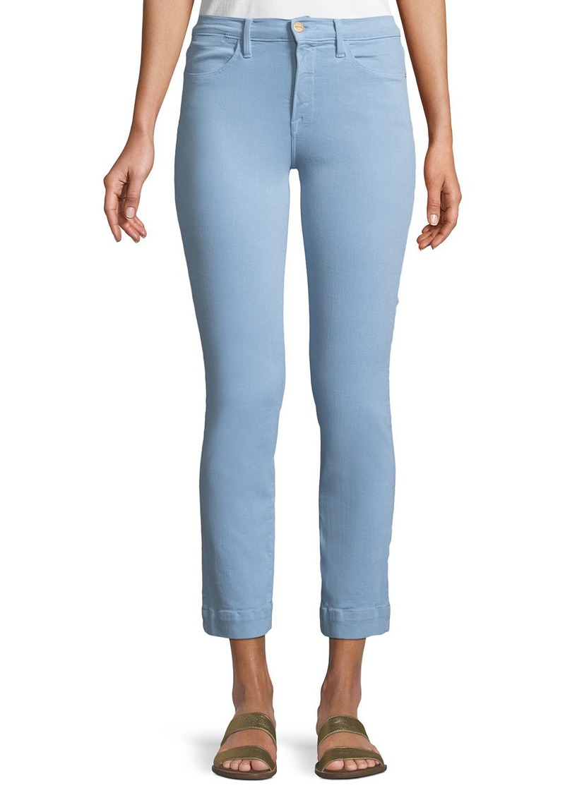 FRAME Le High Straight-Leg Ankle Jeans with Blind Stitch