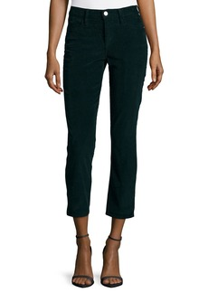 FRAME Le High Straight-Leg Cropped Corduroy Pants