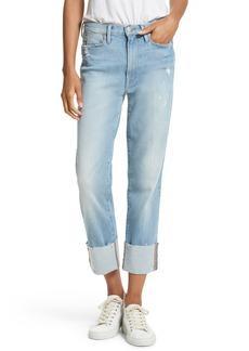 FRAME Le High Straight Leg Cuffed Jeans (Berkshire)