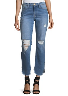 FRAME Le High Straight-Leg Jeans w/ Petal Hem