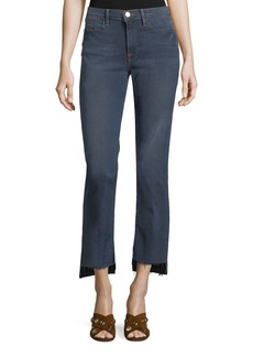 FRAME Le High Straight-Leg Released-Hem Jeans