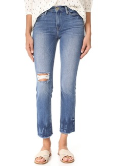 FRAME Le High Straight Raw Edge Fade Jeans