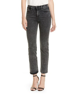 FRAME Le High Straight Raw Edge Jeans (Rockstar)