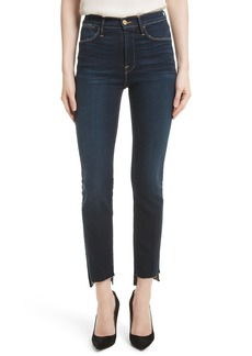 FRAME Le High Straight Raw Stagger Jeans (Cabana) (Nordstrom Exclusive)