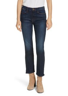 FRAME Le High Straight Snap Away Hem Jeans (Meribel)