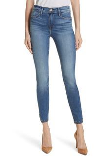 FRAME Le High Stud Hem Skinny Jeans (Hazelwood)