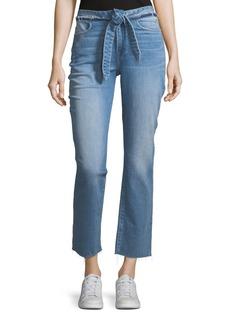 FRAME Le High Tie-Waist Straight-Leg Jeans