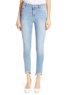 FRAME Le High Triangle Hem Ankle Skinny Jeans (Floyd)
