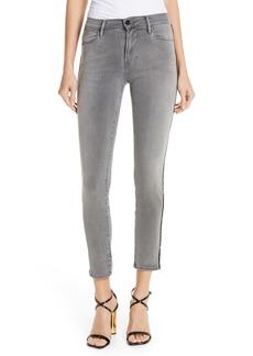 FRAME Le High Velvet Tuxedo Stripe Ankle Skinny Jeans (Grimes)