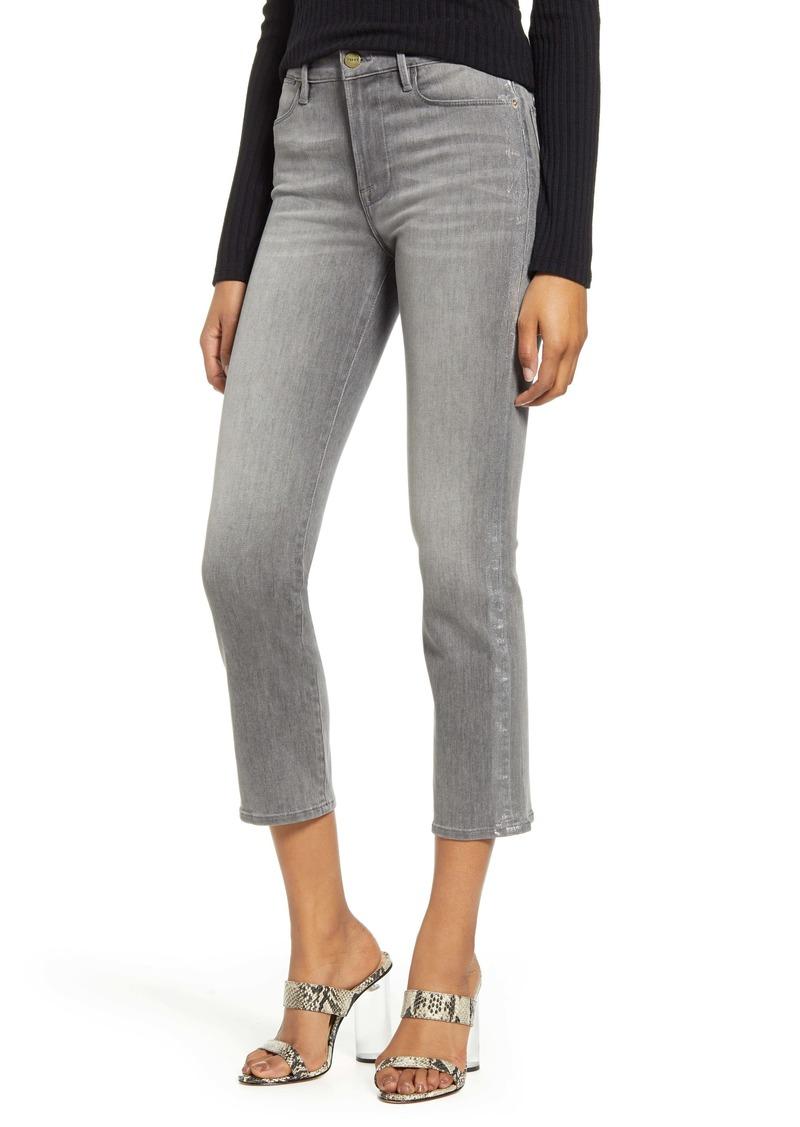 FRAME Le High Waist Crop Skinny Jeans (Field Foil Tux)