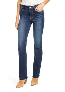 FRAME Le High Waist Mini Boot Raw Edge Jeans (Habana)