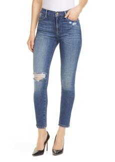 FRAME Le High Waist Skinny Jeans (Saxon)