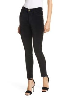 FRAME Le High Waist Velveteen Skinny Pants (Noir)
