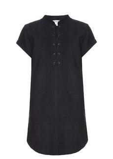 Frame Le Lace suede dress