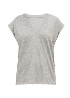 Frame Le Mid V-neck cotton T-shirt