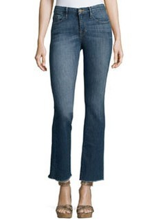 FRAME Le Mini Boot-Cut Raw-Edge Jeans