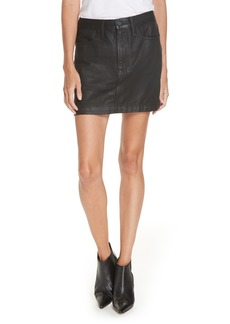 FRAME Le Mini Coated Denim Miniskirt