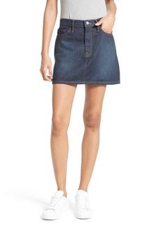 FRAME Le Mini Denim Skirt (Emerald City)