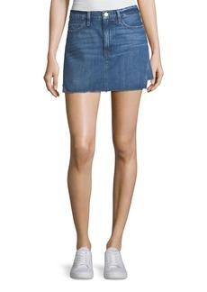 Le Mini Denim Skirt with Released Hem