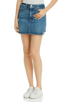 FRAME Le Mini Gusset Step Denim Skirt