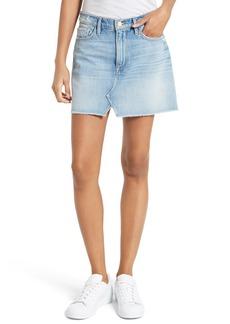 FRAME Le Mini Split Front Denim Skirt (Stoneview)