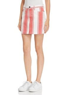 FRAME Le Mini Striped Denim Skirt