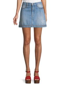 FRAME Le Mini Studded Denim Skirt