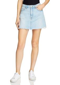 FRAME Le Mixed Media Cargo Mini Skirt