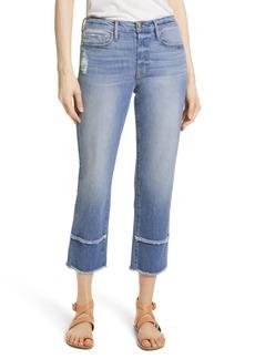 FRAME Le Nouveau Double Fray Cuff Straight Leg Jeans (Jonesboro)